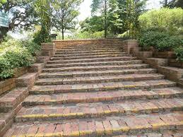 Brick Stairs Design Lawn U0026 Garden Wooden Garden Stairs Design Ideas Garden Stairs To