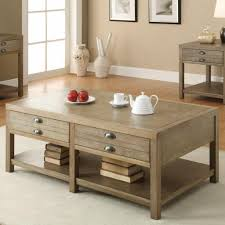 coffee table in driftwood end and sofa table aldo availables