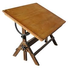 Antique Drafting Table Vintage Hamilton Oak And Maple Adjustable Drafting Table At 1stdibs