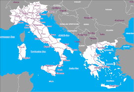 The Map Of Italy by Map Of Italy And Greece