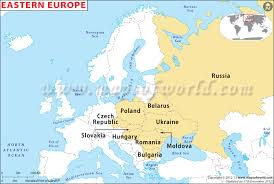 europe map by country eastern europe map eastern european countries