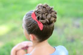 pancaked bun of braids updo hairstyles cute girls hairstyles