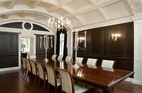barrel ceiling dining room traditional with candle chandelier