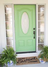 front door painting for instant curb appeal before and after