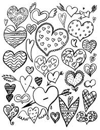 coloring valentines day fabulous free heart coloring pages