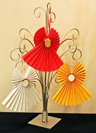 easy crafts accordian folded paper ornament three