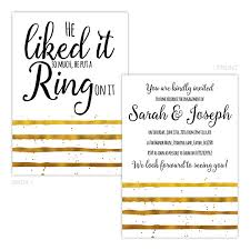 Engagement Party Invites Gold He Put A Ring On It Engagement Party Invitations Pack Of 10