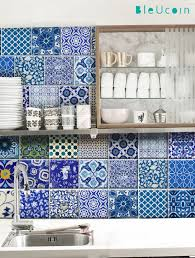 kitchen bathroom indian jaipur pottery tile wall by bleucoin
