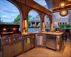 Metal Stud Outdoor Kitchen - kitchen l shaped outdoor kitchen waterproof cabinets exterior