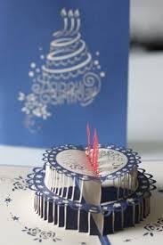 birthday cake kirigami pop up card tutorial free pattern cards