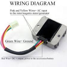 amazon com wingsmoto rectifier regulator 4 wires voltage atv gy6
