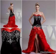 red white and black wedding dress 2016 2017 b2b fashion