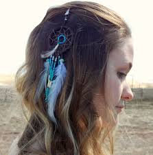 feather hair clip catcher feather hair clip blue amazonite mojo s free spirit