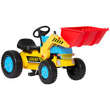 best choice products kids pedal ride on excavator front loader