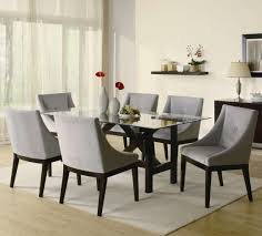finish glass top modern dining table w optional items