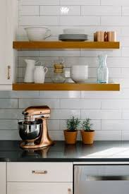 Open Shelves Kitchen Long Wooden Planks For Open Shelving In A South Carolina Home By