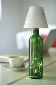 Recycled Glass Light Fixtures by Recycled Glass Bottle Lamp Envirogadget
