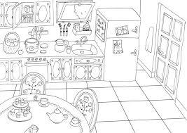 coloriage cuisine maison à colorier lola fait des choses