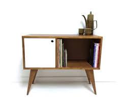 mid century console cabinet vinyl record storage mid century modern sideboard media