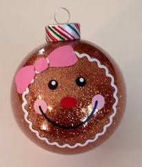 gingerbread glitter ornament 3 25 glass