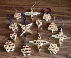 scandinavian wood tree ornaments kit