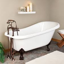 bathroom gorgeous bathroom tubs ideas for contemporary bathroom bathroom aesthetic clawfoot bathroom tubs in white made of acrylic and brown metal faucet also