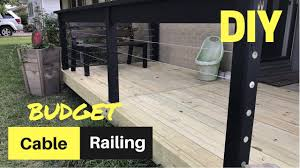 Cheap Banisters Cheap U0026 Easy Diy Cable Deck Railing Youtube