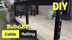 Deck Handrail Cheap U0026 Easy Diy Cable Deck Railing Youtube