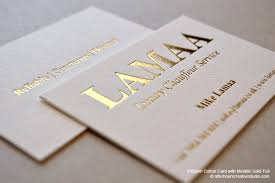 Budget Business Cards Gold Foil Business Card Lamaa Luxury Chauffeur Service Graphic