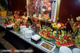 fruit displays indian wedding sangeet dupatta global photography kunal shveta