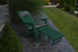 folding reclining adirondack chair w pull out ottoman amish