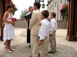 a small wedding at the grove park inn the bride u0027s children stood