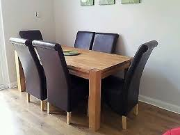 Homebase Chairs Dining Schreiber Woburn Solid Oak Dining Table U0026 6 Chairs From Homebase
