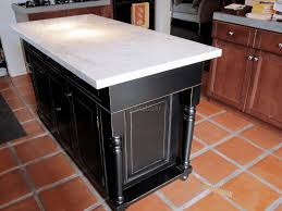custom kitchen island ideas brown minimalist polished granite