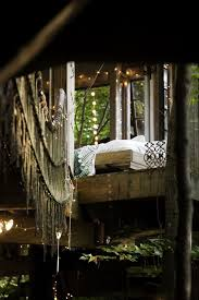life in the trees man links three cool treehouses in the forest
