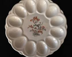 antique deviled egg plate deviled egg plate etsy