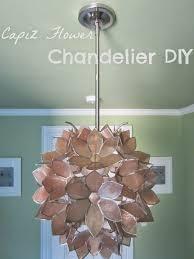 diy shell chandelier lighting diy capiz shell chandelier with chrome finish for home