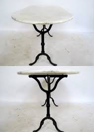 Oval Bistro Table Oval Marble Top Bistro Table The Tiny Flea