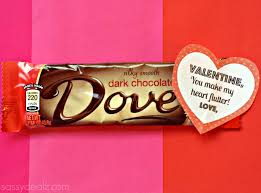 Homemade Valentines Day Gifts by Dove Chocolate Bar Valentine U0027s Day Gift Idea Crafty Morning