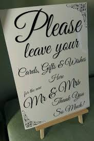 wedding gift table sign decorative wedding boxes