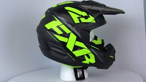 fxr motocross gear 2017 fxr torque core mens snowmobile helmets 360 degree spin youtube