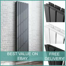 vertical designer radiator central heating double oval column