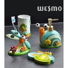 Kids Bathroom Collections Polyresin Bath Accessories Wesmo