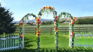 wedding arbor used country charm is captured when the garden arbors and picket fences