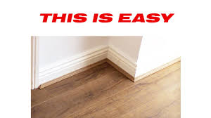 How To Install Laminate Wood Flooring On Stairs How To Install Laminate Flooring Beading Youtube