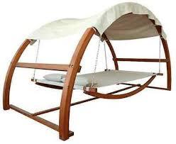 outdoor garden patio bed double hammock swing 2 person canopy