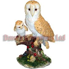 barn owl with owlet by juliana natural world collection