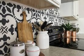 kitchen stencils designs how to stencil a kitchen backsplash using a tile pattern stencil