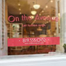 custom window decals for your business vistaprint