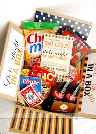 date gift basket ideas date in a box